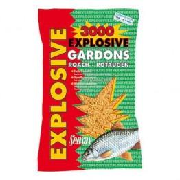Прикормка Sensas 3000 Explosive Gardon 1 кг (Плотва)